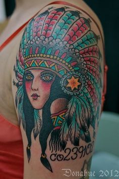 native american tattoo cousin pocohantas ink