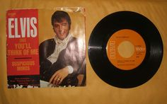 Elvis Presley 45RPM Record 47-9764 SUSPICIOUS MINDS/YOU'LL THINK OF ME w/ SLEEVE
