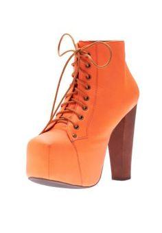 Jeffrey Campbell  Lita- Ankle length platform boots wid wooden heel