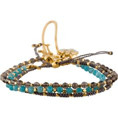 Pre-owned Astley Clarke Set of Three Friendship Bracelets ($245) ❤ liked on Polyvore featuring jewelry, bracelets, beading charms, four leaf clover jewelry, beading jewelry, bead charms and beaded jewelry