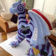 The start of Knickerbockergloria, our Impossimal dragon for the #GoGoDragons2015 in #Norwich
