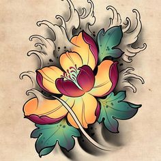 Japanese Flower Tattoo, Lotus Flower Tattoo Design, Japanese Tattoo Symbols, Japanese Tattoo Designs, Japanese Sleeve Tattoos, Japanese Flowers, Skull Rose Tattoos, Flower Tattoos, Art Tattoos