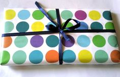 Polka-dot #wrapping_paper