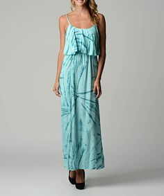 Look at this Dynasty Fashions Jade Tie-Dye Maxi Dress on #zulily today!