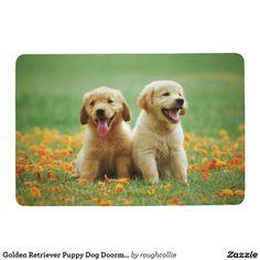 Golden Retriever Puppy Dog Doormat Floor Mat - Indoor Floor Mats & Rugs Gift Idea. Perros Golden Retriever, Labrador Retriever Dog, Golden Retrievers, Labrador Puppies, Corgi Puppies, Cute Puppies, Dogs And Puppies, Pet Dogs, Dog Cat
