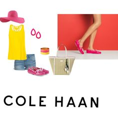 """""""Hit the Road With Cole Haan: Contest Entry"""" by destitutediva on Polyvore #ColeHaan #summerlooks #summerstyle #strawhat #brightcolors #fashion #womenswear #northface #pieces #forever21 #maxandchloe"""