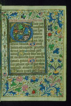 Book of Hours Initial Walters Manuscript W.202 fol. 45r by Walters Art Museum Illuminated Manuscripts