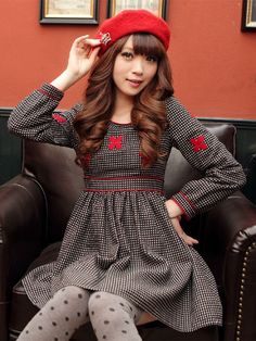 Mango Doll - Embroidered Polka Dot High Waist Dress, $59.00 (http://www.mangodoll.com/all-items/embroidered-polka-dot-high-waist-dress/)