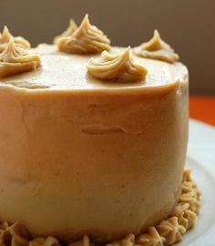 pumpkin cake with brown sugar frosting