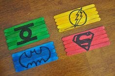 Popsicle stick puzzles.  Just draw a shape or image with Sharpie.
