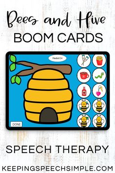Motivate your articulation and phonology students with this interactive, digital resource. Students will love moving the bees inside the hive as they practice their speech sound targets. Use this fun, speech therapy activity with your preschool, kindergarten and elementary students. This is appropriate for teletherapy, distance learning and in person speech sessions. Easy to use Boom Card Activity. Great for spring or summer or year round. Includes vocalic R, blends and all word positions.