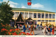 Butlins Ayr - Chairlift Butlins Holidays, Camps, Vintage Postcards, Childhood Memories, Scotland, Street View, Pictures, Image, Campsis