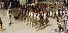 Drums and music of the grenadiers at foot of the imperial guard 1st Empire