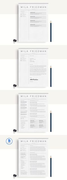 Resume Template for Word Pinterest Template, Professional resume - google docs resume templates