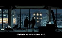 """""""you met me at a very strange time in my life..."""" Tyler Durden - Fight Club"""