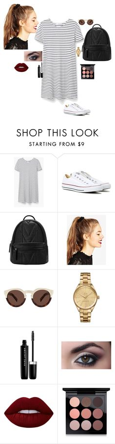 """""""Untitled #32"""" by lysndrsp on Polyvore featuring MANGO, Converse, ASOS, Illesteva, Lacoste, Marc Jacobs, Lime Crime and MAC Cosmetics"""