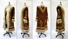Vintage Embroidered Shearling Afghan Jacket Coat by Hookedonhoney