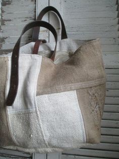 Back Bag, Diy Purse, Boho Bags, Sewing Leather, Linen Bag, Fabric Bags, Cloth Bags, Handmade Bags, Tote Handbags