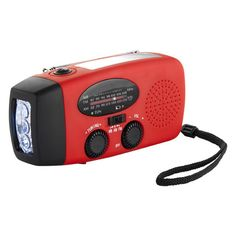 Hand Crank Flashlight Radio with Solar