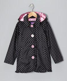 {Black Polka Dot Ruffle Jacket - Toddler & Girls by Pink Platinum & iXtreme}