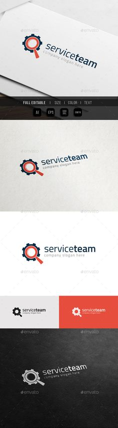 Repair Service Supporting System Team Logo. This premium logo template is ideal for auto service, computer service, car service,