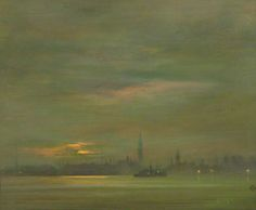 The Thames, Evening by James Abbott McNeill Whistler (1834 - 1903)