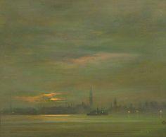 The Thames, Evening - James Abbott McNeill Whistler  American 1934-1903
