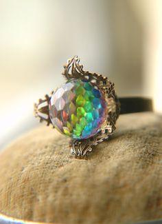 Victorian Prism Ring by Flowerleaf on Etsy