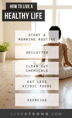 5 Simple Steps to Living a Healthy Life | The healthy life checklist.
