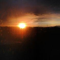 clean sunset