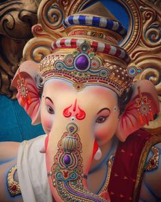 Make this Ganesha Chathurthi 2020 special with rituals and ceremonies. Lord Ganesha is a powerful god that removes Hurdles, grants Wealth, Knowledge & Wisdom. Jai Ganesh, Ganesh Lord, Ganesh Idol, Shree Ganesh, Photos Of Ganesha, Shri Ganesh Images, Ganesha Pictures, Ganpati Photo Hd, Ganpati Picture
