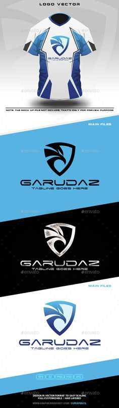 Garudaz  Logo Design Template Vector #logotype Download it here: http://graphicriver.net/item/garudaz-logo/10785580?s_rank=928?ref=nexion