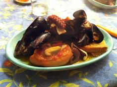 #Sprintage eat #Zuppa di #Cozze(#MusselSoup).  The typical dish of the Supper Thursday before Easter .Spicy and intense smell of the sea, essential for the Neapolitan tradition