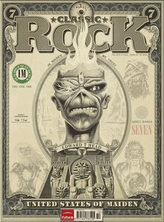 Iron Maiden na capa da Classic Rock Magazine #176
