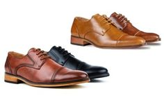 Groupon - Signature Men's Derby Dress Shoes. Groupon deal price: $29.99