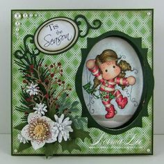From My Craft Room: 'Tis the Season Peek-A-Boo Card - Magnolia-licious 'Christmas in July'