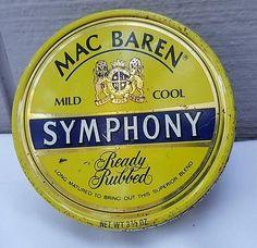 "Collectible Tin "" Mac Baren's Symphony "" Smoking Tobacco  Smoke FREE SHIPPING"