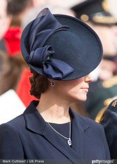 .Jane Taylor navy felt saucer fascinator  hat. Kate Middleton princess hat. Duchess of Cambridge style icon.