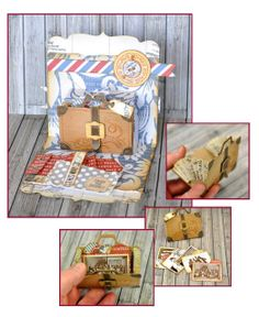 Amazing combination of the Pop 'n Cuts Suitcase insert plus the Bigz die to make a removable suitcase-shaped mini. By Pete Hughes. Love it! Crafting ideas from Sizzix UK: Mini..... Card?