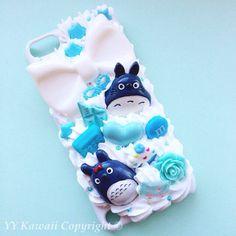 Custom Decoden Totoro, Sprited Away, Ponyo inspired phone case for... ($25) ❤…