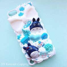 Custom Decoden Totoro, Sprited Away, Ponyo inspired phone case for... ($25) ❤ liked on Polyvore featuring accessories, tech accessories, phone cases, cases, phone, tech and samsung