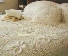 Knitting Patterns Vintage Granny Square Blanket Afghan Bedspread & Cushion icky the crafty cat You're going to love Leaf Blanket and Cushion Throw Afghan by designer FabFashions.The squares are then sewn together and a simple crochet border added (ju Granny Square Häkelanleitung, Granny Square Crochet Pattern, Crochet Granny, Granny Squares, Afghan Crochet, Free Crochet, Motif Vintage, Vintage Patterns, Baby Pillows