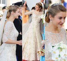 Luxembourg Royal Wedding - Stéphanie de Lannoy - Elie Saab wedding dress