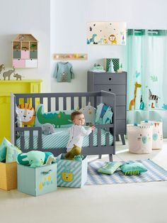 49 Sensible Bedroom Decorating Tips For Toddler Boys Baby Boy Nursery Themes, Baby Boy Rooms, Baby Room Decor, Baby Boy Nurseries, Baby Boys, Toddler Boys, Kids Rooms, Jungle Bedroom, Baby Bedroom