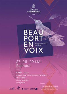 affiche beauport en voix saison 2016, graphicdesign carbonnier, agence de publicité basée en Bretagne, Saint-Brieuc, Pordic