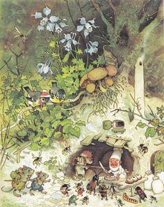 Erich Heinemann / Wichtelhausen Märchenbuch Bilder: Fritz Baumgarten Carl Werner Verlag (Reichenbach i. V./Deutschland; 1946) ex libris MTP