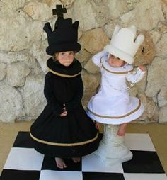 Chess King and Queen costumes