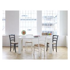 ASPER 8 seater white high gloss dining table
