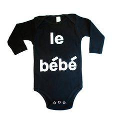 Hugo Loves Tiki Le Bebe Long Sleeve Onesie - Black