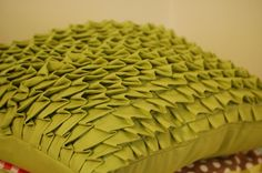 pleated pillow